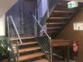 Stahlwangentr., Buche Furnierschichtholz, ES-Seilgeländer