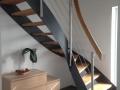 Stahlwangentr., ES-Seilsystem, ES-Pfosten, Holzhandlauf GH1
