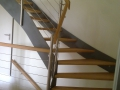 Stahlwangentr., ES-Seilsystem, ES-Pfosten, Holzhandlauf
