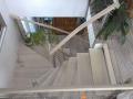 aufgesattelte Stahlwangentr. Esche von oben