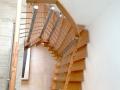 Holztreppe aufgebolzt und gewendelt
