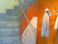 EDELSTAHL-Stangen-Treppenlauf-Linke-Rostock