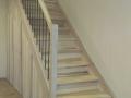 eingestemmt, Esche Hartwachsöl weiß, Stufenfolien, nach unten mit 3 Tren geschlossen